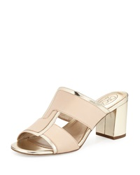 Circa Joan And David Kirby Two Tone Slide Sandal Light Natural Gold