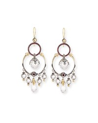 Konstantino Pythia Corundum And Crystal Dangle Earrings Silver