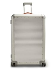 Fabbrica Pelletterie Milano Spinner 76 Stud Embellished Suitcase Silver