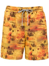 Lygia And Nanny Gil Swim Short Yellow And Orange