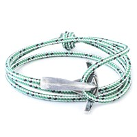 Anchor And Crew Bruce Rope And Silver Bracelet Green Dash