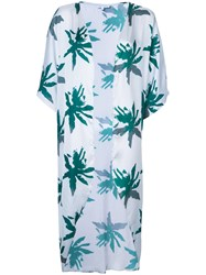 Sapia Simone Palm Print Beach Cover Up Women Polyamide M Blue