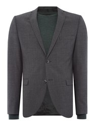 Selected Mylo Don Plain Weave Suit Jacket Grey