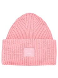 Acne Studios Face Patch Beanie Pink