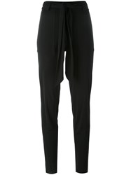 Barbara Bui Twisted Belt Skinny Trousers Black