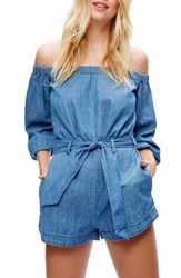 Free People Women's Tangled In Willows Off The Shoulder Romper