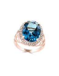 Effy Diamond London Blue Topaz And 14K Rose Gold Ring