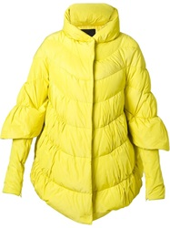 Ermanno Scervino High Collar Padded Jacket Yellow And Orange