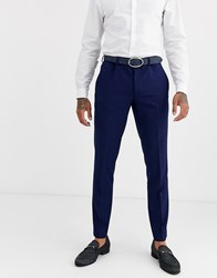 Burton Menswear Skinny Suit Trousers In Blue