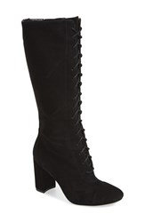 Women's Nine West 'Waterfall' Lace Up Knee High Boot 3' Heel