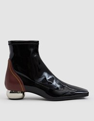 Ellery Stretch Patent Chelsea Boot Black