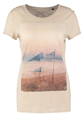 Marc O'polo Print Tshirt Beach Light Blue