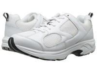 Drew Shoe Flash Ii White Leather White Mesh Women's Shoes