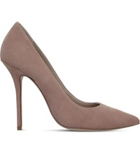 Kurt Geiger London Ellen Suede Court Shoes Taupe