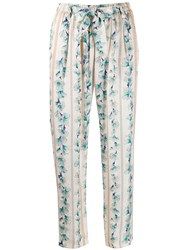 Forte Forte Tie Waist Cropped Floral Print Trousers 60
