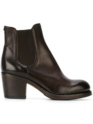 Pantanetti Chunky Heel Chelsea Boots Brown