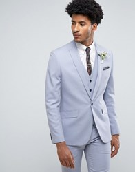 Farah Skinny Wedding Suit Jacket In Blue Blue