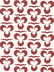 Arjumand's World Tris Bloom Warm Printed Wallpaper Red