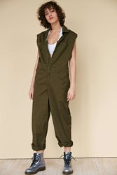 Silence And Noise Coverall Mechanic Suit Dark Green