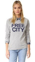 Freecity Str8up Raglan Sweatshirt Heather Blue