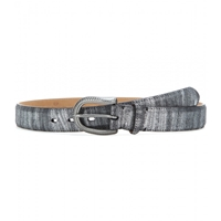 Fausto Colato Leather Belt Nero Argento