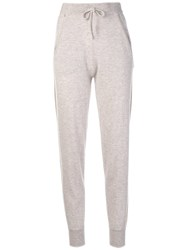 N.Peal Striped Knitted Track Pants Nude And Neutrals