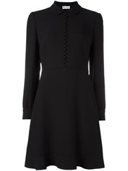 Red Valentino Front Button Flared Dress Black