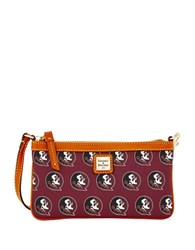 Dooney And Bourke Sports Florida State Large Slim Wristlet Red