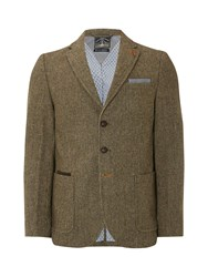 White Stuff Men's Clark Check Blazer Green