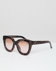 Selected Cateye Sunglasses Brown