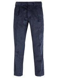 The Gigi Tonga Straight Leg Corduroy Trousers Navy