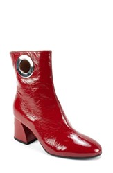 Summit By White Mountain Sherry Bootie Red Patent