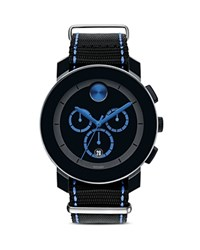 Movado Bold Black Chronograph Dial With Cobalt Blue Accents 43.5Mm