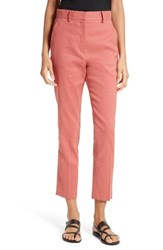 Theory Women's Lenoria Stretch Linen Blend Crop Pants