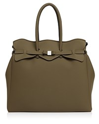 Save My Bag Miss Weekender Satchel Khaki Green Silver