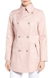 Guess Women's Hooded Double Breasted Anorak Blush