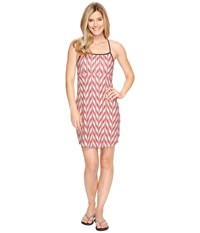 The North Face Exposure Dress Burnt Coral Ikat Print Women's Dress Pink