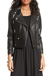Rebecca Minkoff Women's Wes Moto Leather And Neoprene Jacket