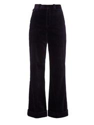 Chloe Jumbo Flared Cotton Corduroy Trousers