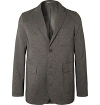 Beams Plus Unstructured Printed Woven Blazer Gray
