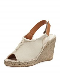 Sesto Meucci Kaley Fringed Wedge Espadrille Neutral