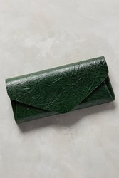 Anthropologie Shibori Leather Wallet Green
