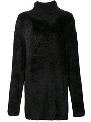 By. Bonnie Young Oversized Roll Neck Jumper Black