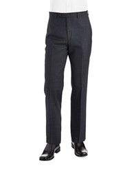 Lauren Ralph Lauren Classic Fit Mid Weight Flat Front Wool Trouser Pants Charcoal