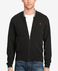 Polo Ralph Lauren Men's Big And Tall Knit Bomber Jacket Black