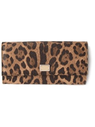 Dolce And Gabbana Leopard Print Purse Brown