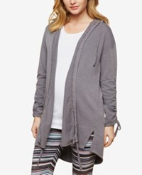 Motherhood Maternity Open Front Hoodie Grey
