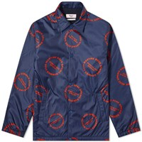 Martine Rose All Over Print Coach Jacket Blue