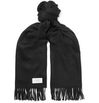 Givenchy Fringed Wool And Cashmere Blend Scarf Black