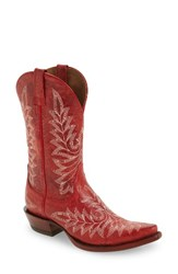Ariat Women's Brooklyn Western Boot Revel Red Leather